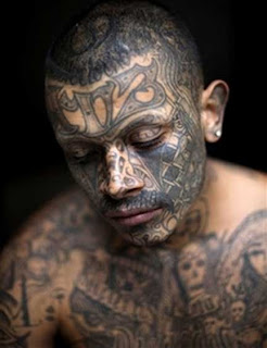 Gang Tattoos Especially Face Gangsta Tattoo Designs With Image Men With Face Gang Prison Tattoo Picture 5