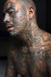 Gang Tattoos Especially Face Gangsta Tattoo Designs With Image Men With Face Gang Prison Tattoo Picture 3