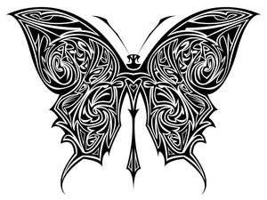 Tribal Butterfly Tattoo Designs-16