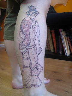 Japanese Tattoo, Geisha Tattoo, Calf Tattoo, Japanese Geisha Tattoos