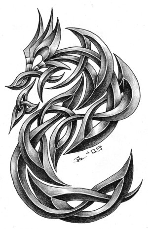 Celtic Dragon Tattoo Design Picture 2