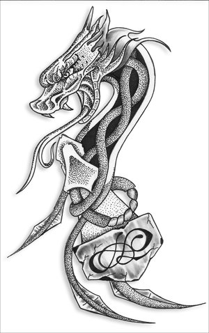 Celtic Dragon Tattoo Design Picture 4