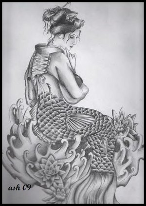 Japanese Geisha Tattoo Design Picture 4