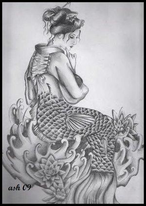Japanese Geisha Tattoo Design Picture 4