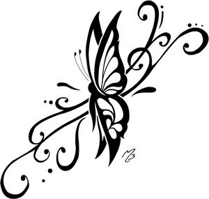 Tattoos With Image Tribal Butterfly Tattoo Designs Gallery Picture 2