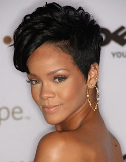 Celebrity Hair Styles With Image Rihanna's Short Hairstyle Gallery Picture 1