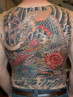 Back Body Japanese Tattoo Ideas Especially Dragon Tattoo Designs With Picture Back Body Japanese Dragon Tattoo Gallery 1