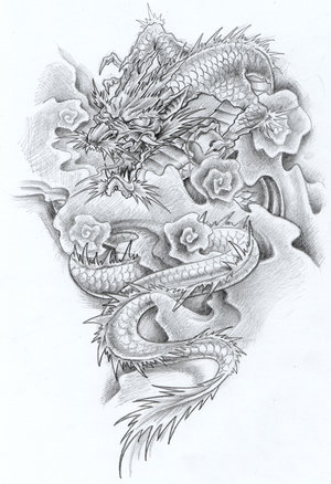 dragon tattoo art. dragon tattoo flash art.