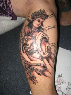 Cool Calf Tattoo Ideas With Japanese Tattoos Especially Geisha Tattoo Designs With Picture Calf Japanese Geisha Tattoo Gallery 6