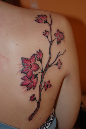 back tattoos for women flowers