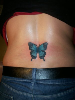 butterfly tattoo lower back. With Lower Back Tattoo