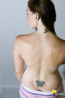 Beautiful Lower Back Butterfly Tattoos Picture 3
