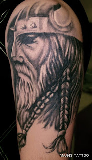 Shoulder Viking Tattoo Design