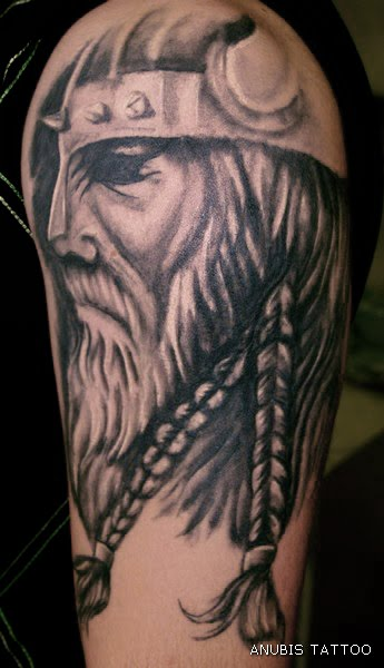 Shoulder Viking Tattoo Design 4