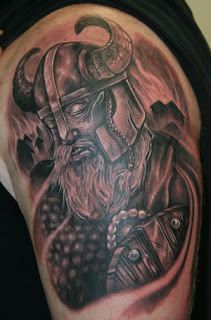 Art Shoulder Viking Tattoo Design