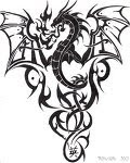 Tribal Tattoos With Image Dragon Tribal Tattoo Designs Picture 2