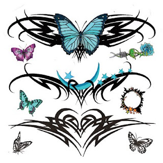 Lower Back Tattoos With Image Lower Back Butterfly Tattoo Designs With Butterfly Tribal Tattoo Picture 9