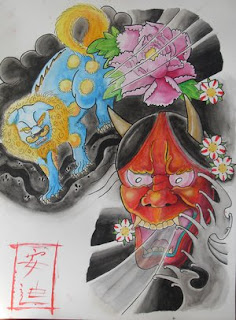 Japanese Hannya Mask Tattoo Design 5