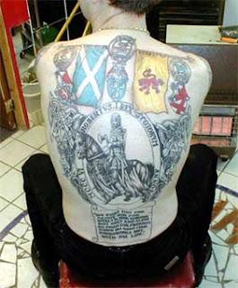Backpieces Scottish Tattoo Design