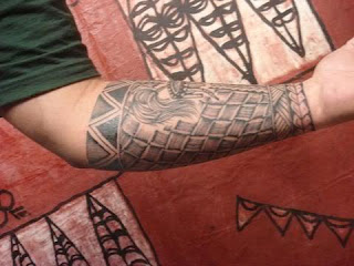 Arm Tribal Samoan Tattoo Design