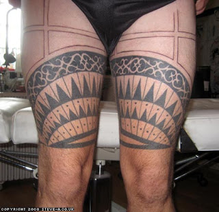 Samoan Traditional Tattoo Thigh