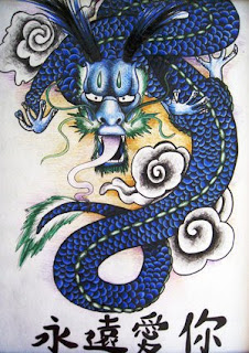 Traditional Japanese Dragon Tattoo Design 2