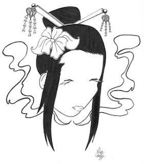 Beautiful Japanese Geisha Tattoos Design 2