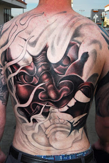 Beautiful Japanese Mask Tattoo 2