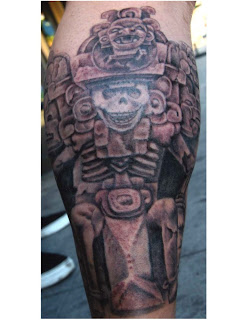 Aztec Calf Tattoo