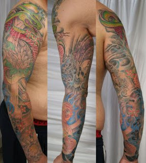 Japanese Sleeve Koi Fish Tattoo Designs