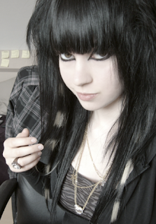 Long Black Emo Hairstyle, Emo Hairstyles, Emo Hair Styles, Emo Black Hair, Emo Long Hair, Emo Girls Hair