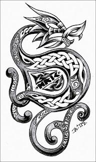Celtic Dragon Tattoo Design 6