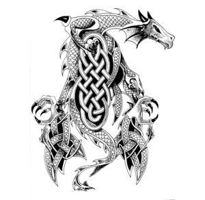 Celtic Dragon Tattoo Design 2