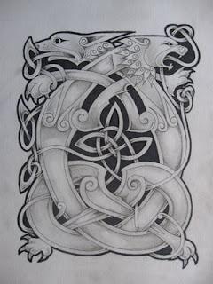 Celtic Dragon Tattoo Design 1