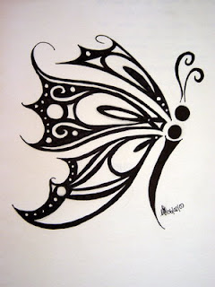Tribal Butterfly Tattoo Design 3