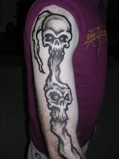 Skull Airbrush Tattoo