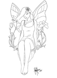 Fairy Tattoo Design 3