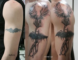 Tattoo Cover Up New Angels