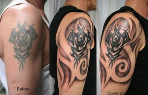 Cover Up Tattoo Tribal