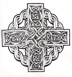 Celtic Cross Tattoo Design 4