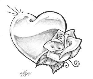 Flower Rose Tattoo Design 1