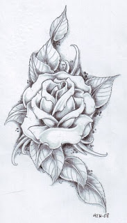 Flower Rose Tattoo Design 3