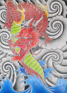 Japanese Dragon Tattoo Design 7