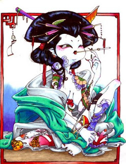 Japanese Geisha Tattoo Design 4
