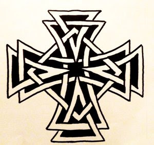 Corner Celtic Cross Tattoo Designs Picture 1