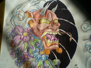 Japanese Tattoo With Image Japanese Mask Tattoos Especially Japanese Hannya Mask Tattoo Design 7