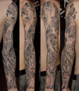 Sleeve Japanese Tattoos Especially Koi Fish Tattoo Designs With Image Japanese Sleeve Koi Fish Tattoo Gallery Pictures 5