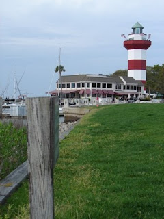 View of the lighthouse from the area of the 18th hole