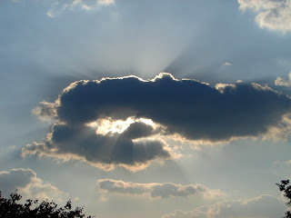 Crepuscular rays and cloud shadows
