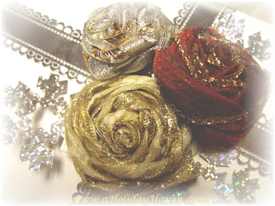 Easy Ribbon Rose Gift Toppers